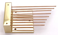 Gongs 010: Brass Base mounting Gongs - High rods (J)