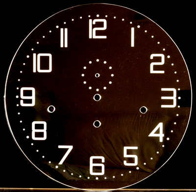 Zifferblatt 100: Oakside Special Clear Perspex Round dial with etched numerals 300mm