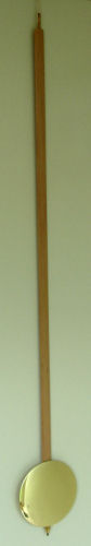 Pendulum 086: Kieninger 116cm x 165mm Timber Pendulum. 25mm wide stick