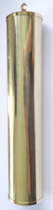 Weight Shells 0007: Shell 40mm X 250mm polished finish  with 2.0kg filling.
